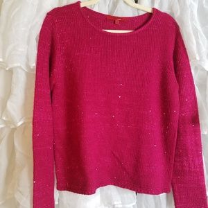Narcisco Rodriguez pink sparkly sweater